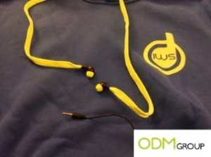 Sweatshirt with headphones as promo gift