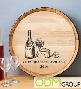 Barrel Display for Marketing Drinks