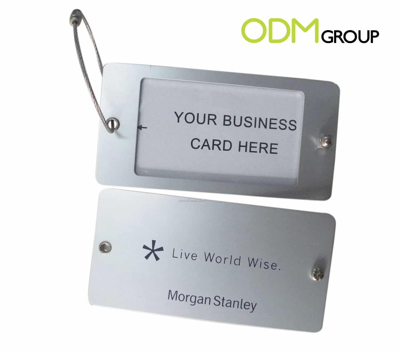 Custom aluminium luggage tags as premium gift magicingreecefo Choice Image