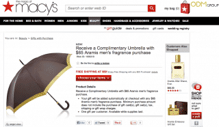 Classy Gift with Purchase Umbrella Promotion by Aramis