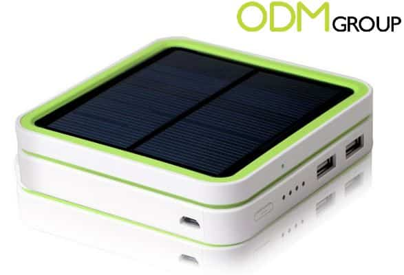 Promotional Gadget Power Bank with stackable Solar Panel.