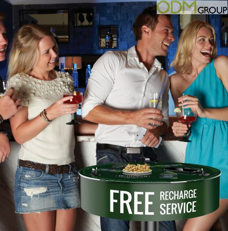 Perfect Advertising Product for the bars – Charging Table