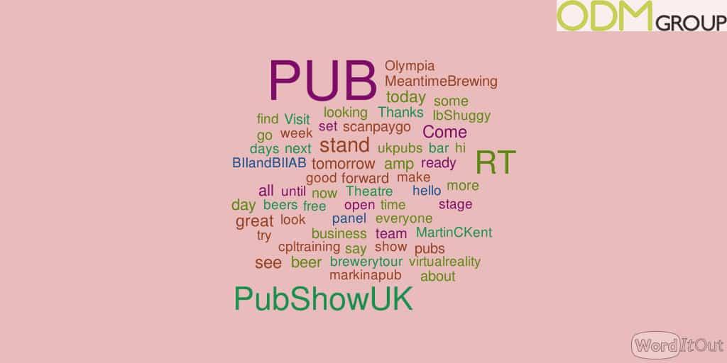 Event Tracking on Twitter: PUB Show UK'16 #PUB16