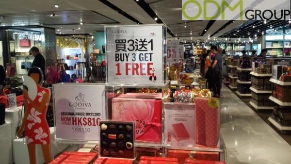 Promotional Display - Effective marketing by Godiva