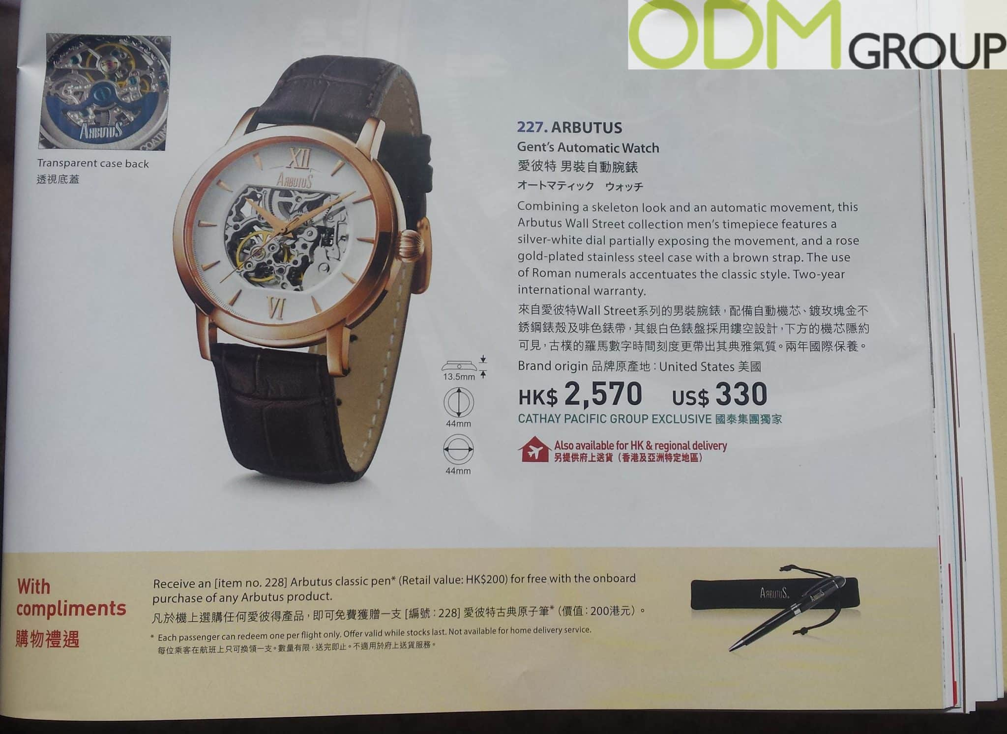 Magazine Promo – Cathay Pacific Arbutus Watch Promotion