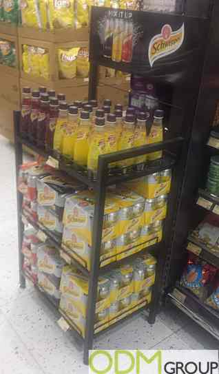 Mix It Up with Schweppes Point of Sales Display