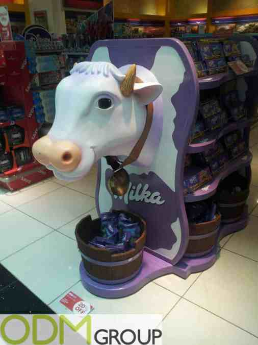 Milka Custom POS Display in Dubai Duty Free