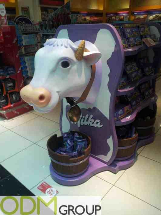 Milka Custom POS Display in Dubai Duty Free