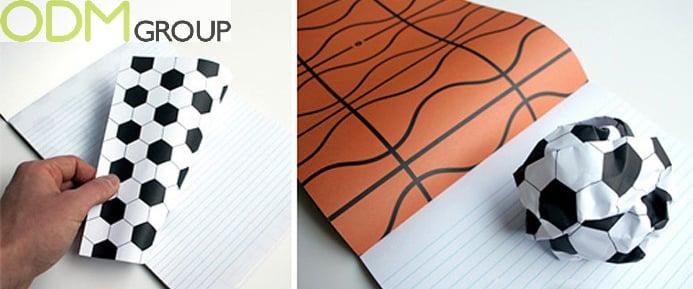 New Sports Marketing Idea - Sport Balls Notebook