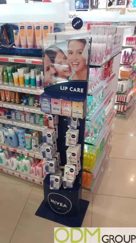 Nivea Lip Care Promo - Custom POS Display