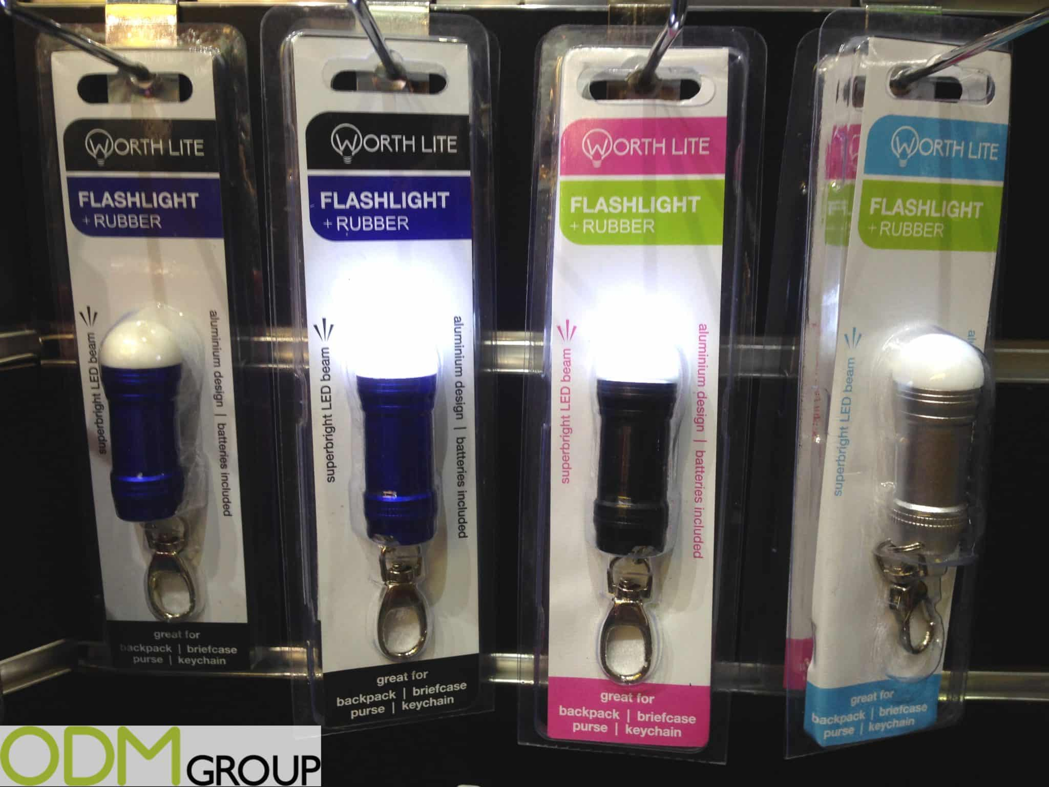 Branded LED Keychain Flashlight