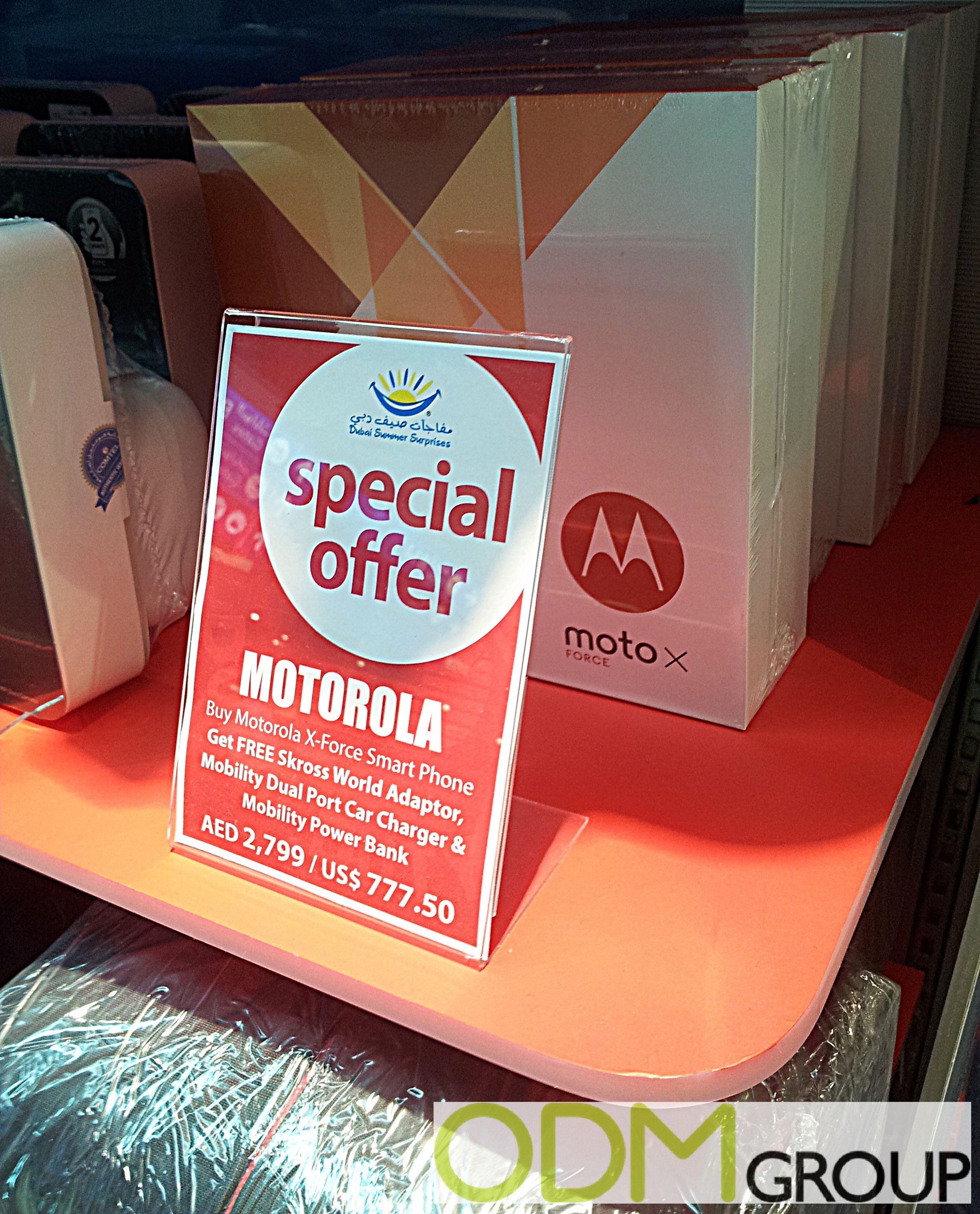 Motorola offers Duty Free Travel Promotion