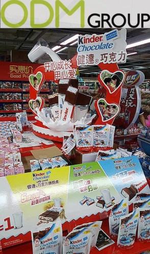 Unique POS Display by Kinder Chocolate