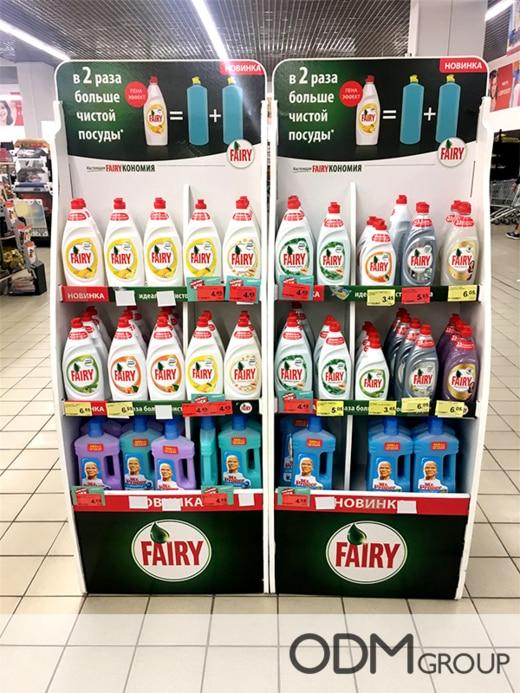 Custom Instore Display for P&G's Fairy Liquid Advertisement