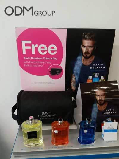 David Beckham Fragrance Black Toiletry Bag Give-away & Why Your Company Needs To Consider Custom Toiletry Bag Too?