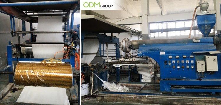 ODM's Patented Reflective Shopping Bags: Lamination Machine
