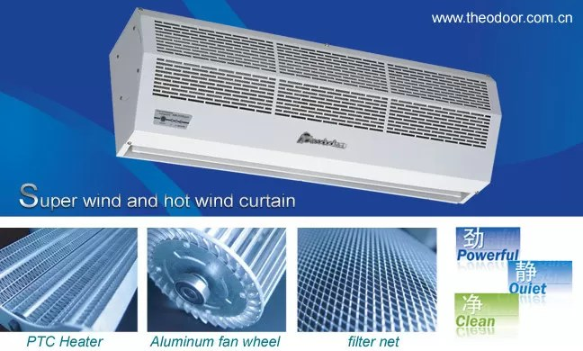 overdoor thermal air door the heating air curtain keeping indoor comfort warm air conditioning in winter