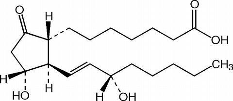 In prostaglandin E1, where in the molecule are the chiral