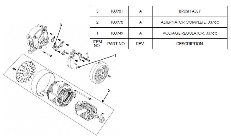 HW5500 Alternator Parts
