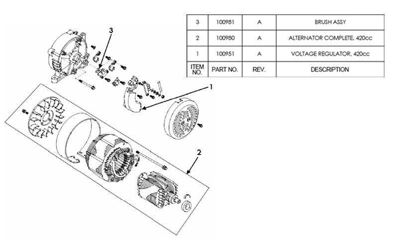 HW7500E Alternator Parts