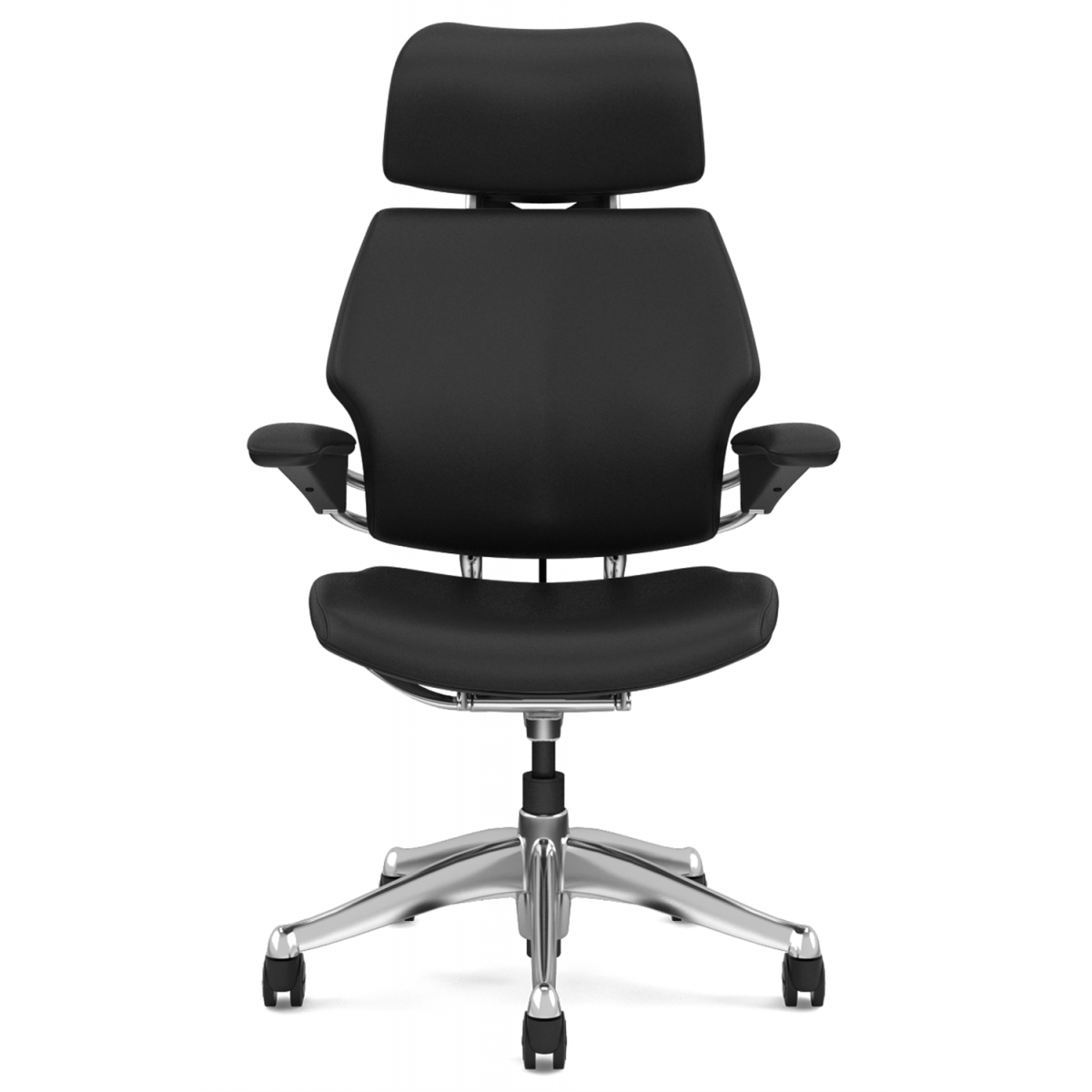 desk chair adjustable swivel base for recliner humanscale freedom executive with headrest