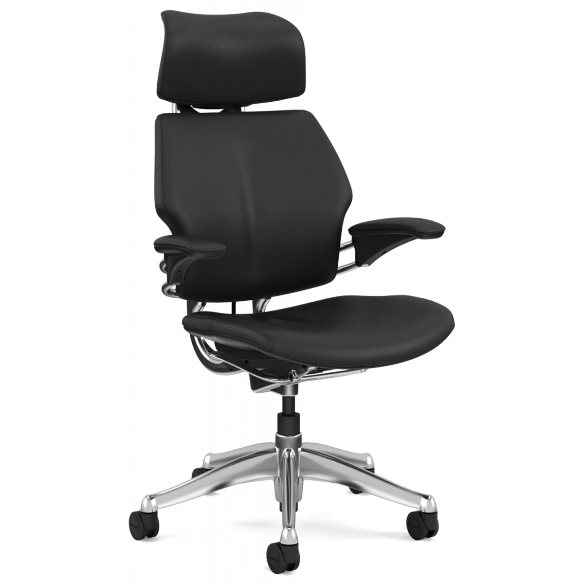 best office chair for neck pain uk swivel chairs living room humanscale freedom executive with headrest