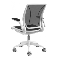 Humanscale Diffrient World Chair White Swivel Living Room Chairs Black And