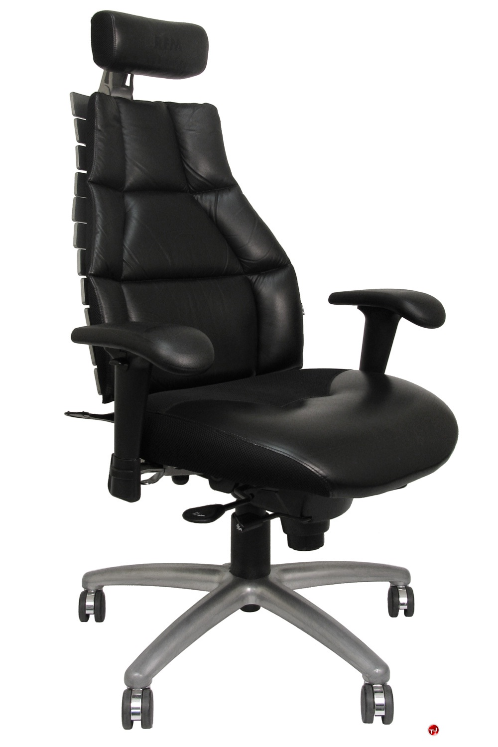 office chair with headrest oak rocking chairs the leader rfm verte 2200 high back executive picture of adjustable