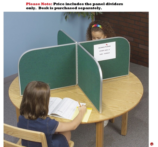 The Office Leader Portable Cluster of 4 Privacy Desk