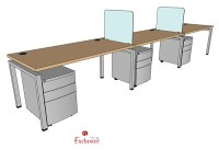 "The Office Leader. PEBLO 3 Person 30"" x 60"" Bench Seating"