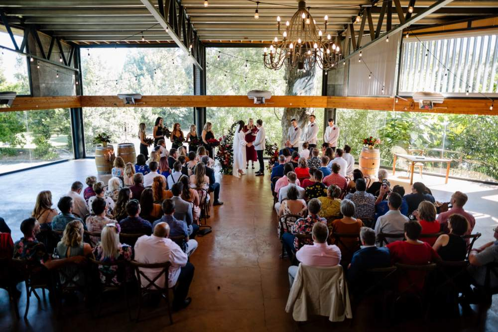 Narrows Landing indoor wedding ceremony