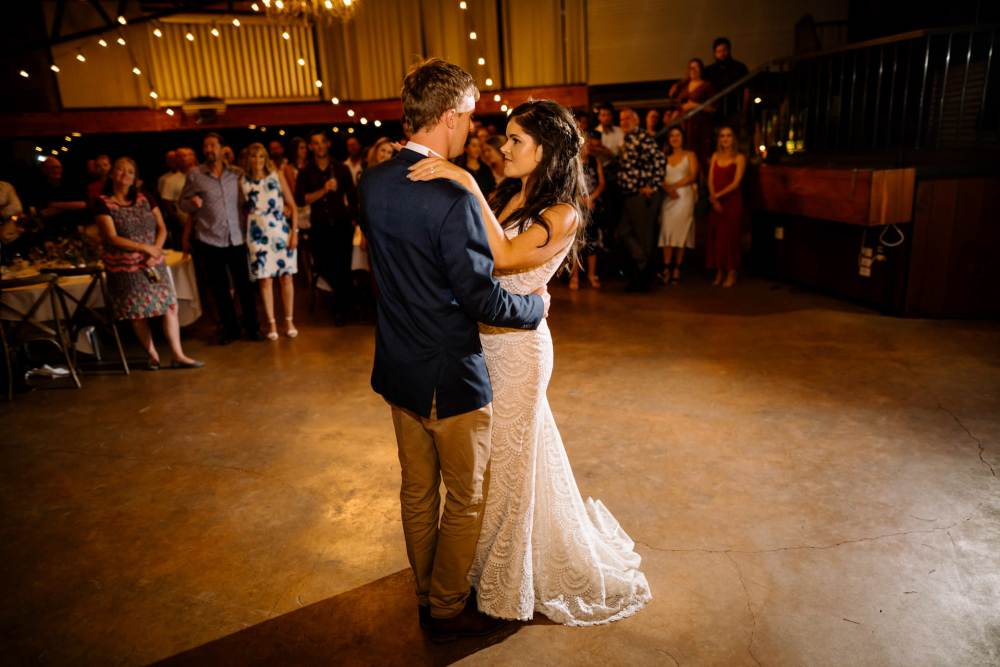Bride and Groom First Dance at Narrows Landing