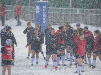 The Scotland squad warm up at Scotstoun just before their game against Spain was cancelled.