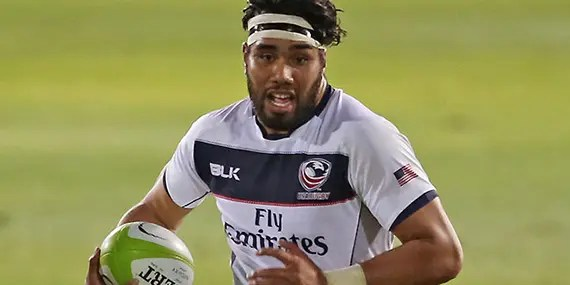 David Tameilau is action for USA Eagles ***Image courtesy: Glasgow Warriors ***