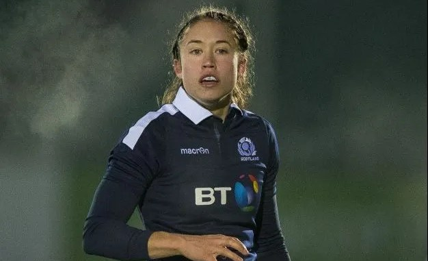 Rhona Lloyd was one of five Scots to score tries