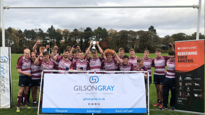 George Watson's College were winners of the inaugural Merchiston Castle Tri-Nations Rugby Festival. Image: Alan Rennie