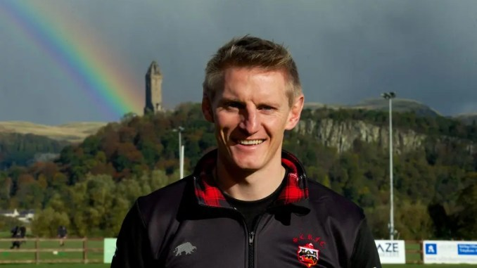 Ben Cairns is ready to chase some rainbows with Stirling County. Image: Bryan Robertson