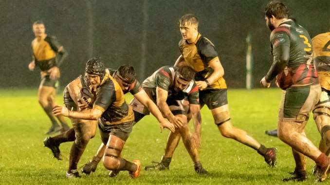 Currie Chieftains came out on top of a battle against GHA in tough conditions at Malleny Park. Image: Fraser Gaffney