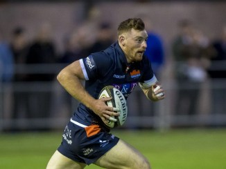 George Taylor made his mark for Edinburgh on Friday night with two tries in a man-of-the-match performance. Image: Craig Watson