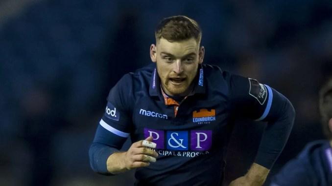 George Taylor scored a double in a man-of-the-match performance for Edinburgh. Image: ©Craig Watson