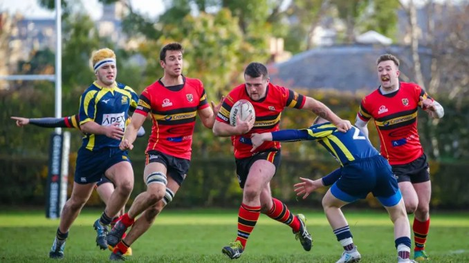 Stewart's Melville picked up a big win over Gordonians at Inverleith. Image: Jax MacKenzie Photography