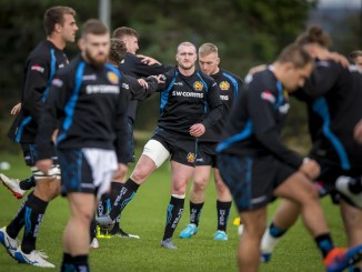 Stuart Hogg training with his new Exeter team-mates last week. Image: © Craig Watson - www.craigwatson.co.uk