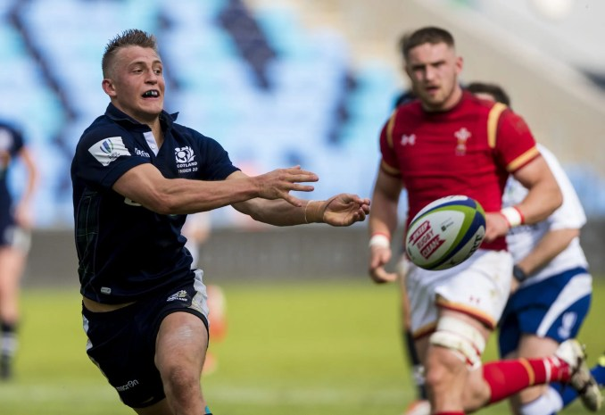 Tom Galbraith in action for Scotland against Wales at the World Rugby Under 20's Championship in Manchester in 2016. Image: Craig Watson - www.craigwatson.co.uk
