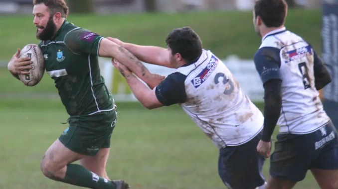 Bruce McNeil on the charge for Hawick. Image: Kenny Baillie