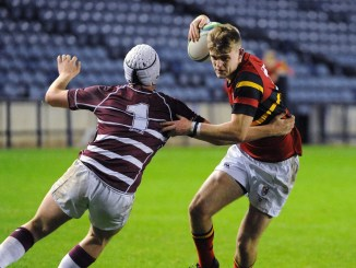 Christian Townsend in action for Stewart's Mellvile in the Scottish Schools' Cup Final earlier this month. Imaget: Fotosport/David Gibson