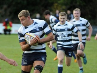Iain Wilson of Heriot's leads the charge. Image: Fotosport/David Gibson