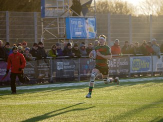 Oscar Baird carries the ball against Cartha last week. Image: Owen Cochrane
