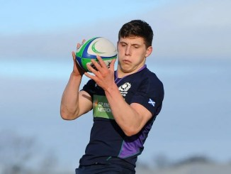 Rory Darge in action for Scotland U19s versus Wales in December 2018. Image: Fotosport/David Gibson
