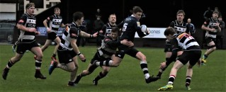 Dumfries Saints reclaimed top spot with a hard-fought win over Glasgow Accies. Image: Bob Johnstone
