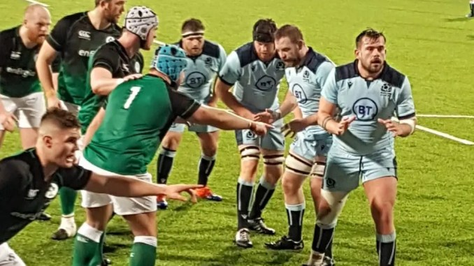 Scotland Club XV came up short against THEIR Irish counterparts in Dublin. Image: Rory Bannerman